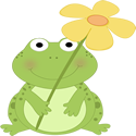 Frog Holding a Flower