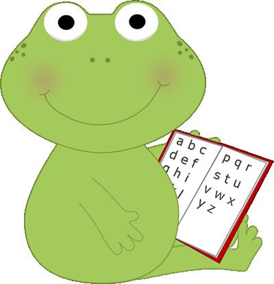 Frog Reading Clip Art - Frog Reading Image
