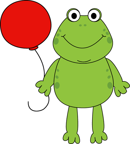 Frog with a Balloon