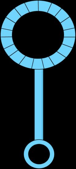 Blue Bubble Wand