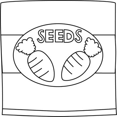 Black and White Carrot Seed Packet