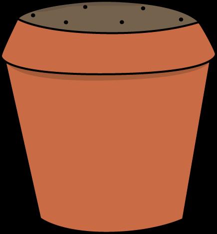 Dirt Filled Flower Pot