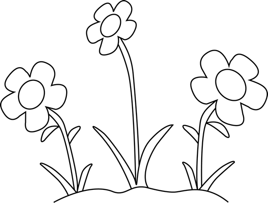 black and white flower garden clip art black and white
