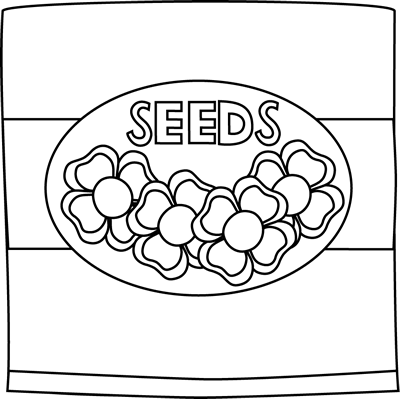 Black and White Flower Seed Packet