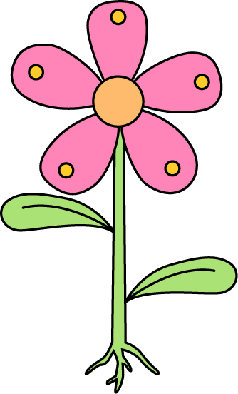 Garden Flower with Roots