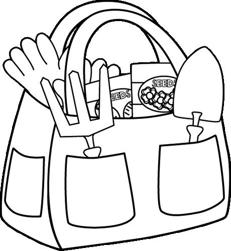 Black and White Gardening Bag