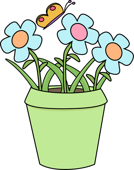 gardening flower pot - Garden Clipart