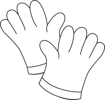 Black and White Gardening Gloves