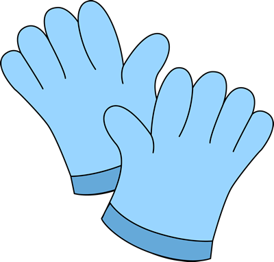 Gardening Gloves Clip Art Image - blue gardening gloves.