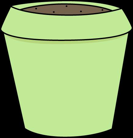 Green Flower Pot Clip Art Image - empty green flower pot.