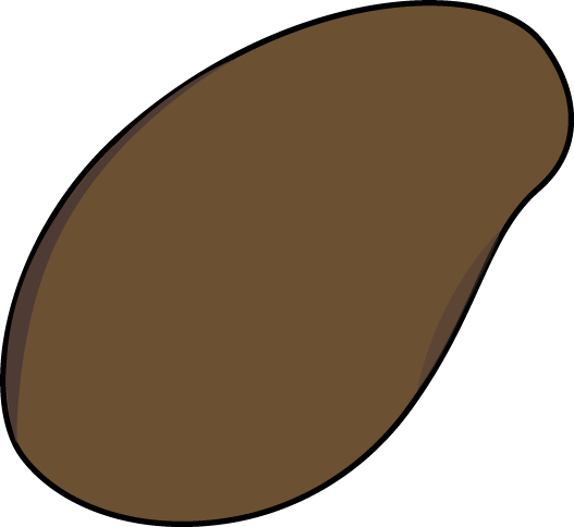 Plant Seed Clip Art Image - large brown plant seed.