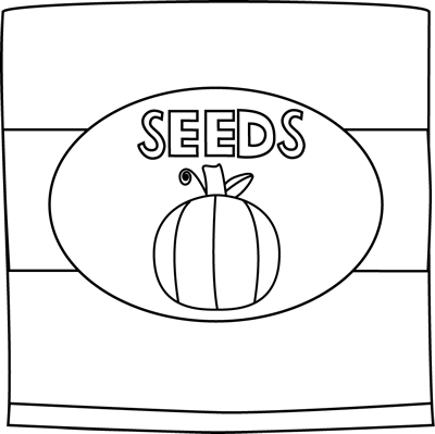 Black and White Pumpkin Seed Packet