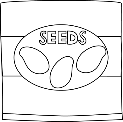Black and White Seed Packet