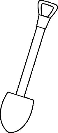 Black and White Shovel