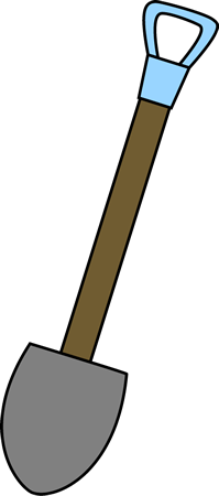 Clip Art Shovel Clip Art shovel clip art image with a long wooden handle
