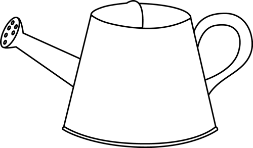 Black and White Watering Can