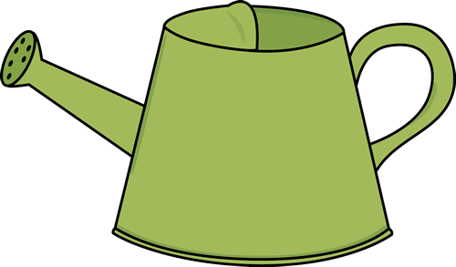 cartoon watering can clipart illustration