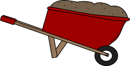 Wheelbarrow Filled with Dirt