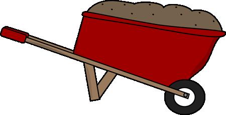 Wheelbarrow Filled with Dirt
