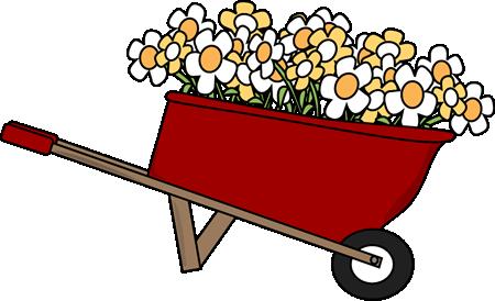 Wheelbarrow Filled with Flowers