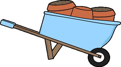 Wheelbarrow Filled with Flower Pots