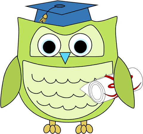 Graduation Owl with Diploma