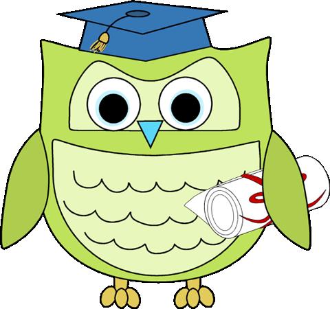 Graduation Owl with Diploma