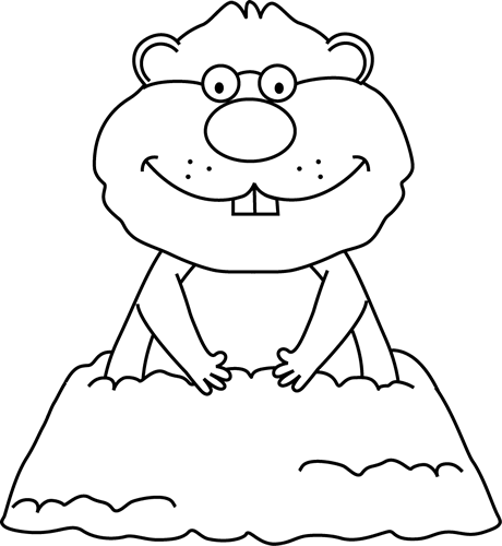 Black and White Groundhog Wearing Glasses