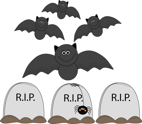 Bats Flying Over Graveyard