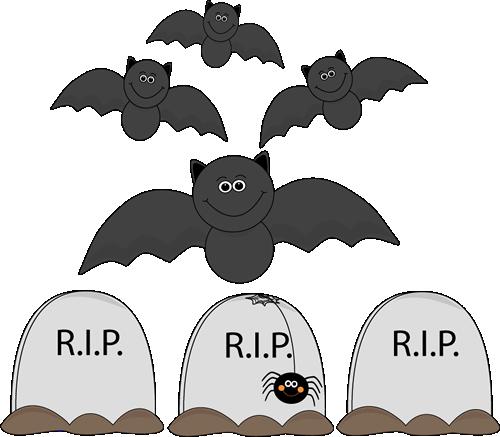 Bats Flying Over Graveyard
