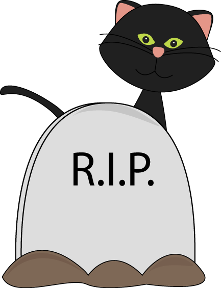 Black Cat and Tombstone
