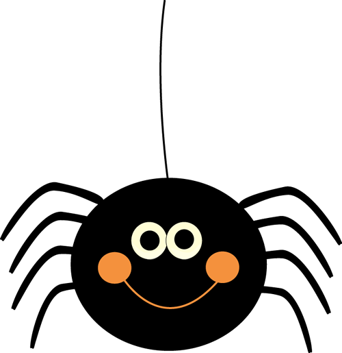 Cute Hanging Halloween Spider Clip Art - Cute Hanging Halloween Spider ...