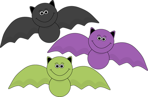 Colorful Halloween Bats