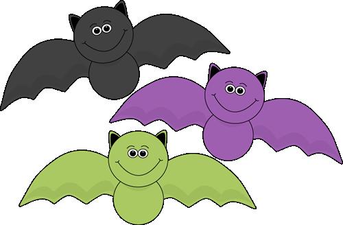 Colorful Halloween Bats