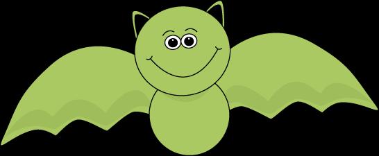 Green Halloween Bat