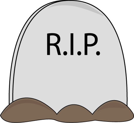 Halloween Tombstone Clip Art Image - large Halloween tombstone with ...