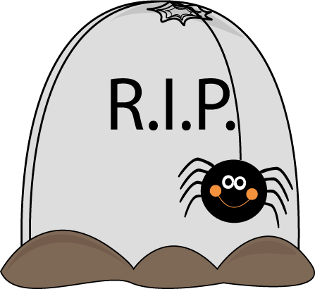 Halloween Tombstone and Spider