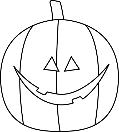 Black and White Jack-O-Lantern