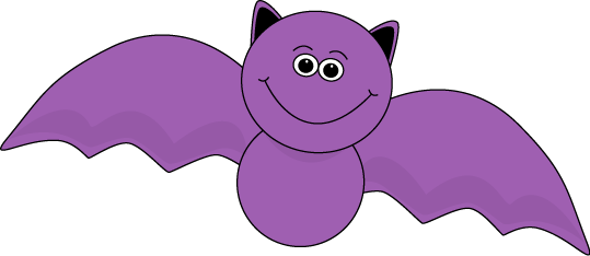 Purple Halloween Bat