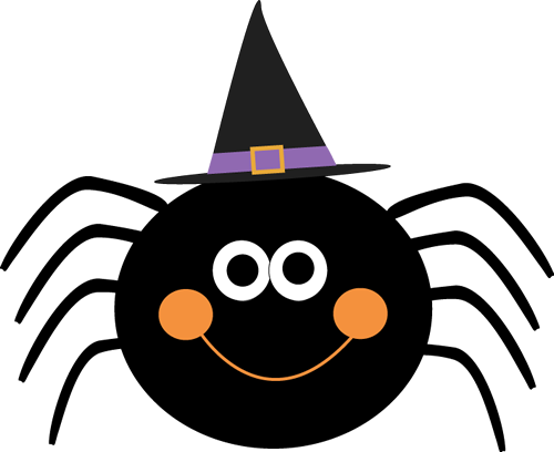 Clip Art Cute Halloween Clip Art halloween clip art images spider wearing witches hat