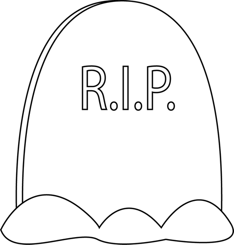Black and White Tombstone