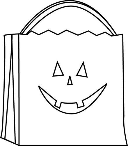 Black and White Trick or Treat Bag