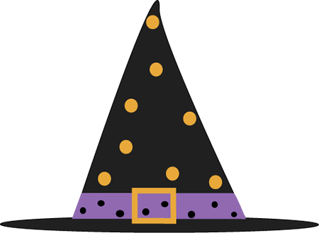 Polka Dot Witch Hat