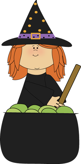 Witch Stirring Cauldron