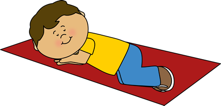 Boy Taking a Nap Clip Art