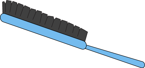 Blue Hair Brush