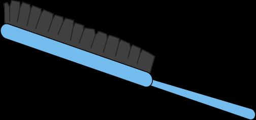 Blue Hair Brush