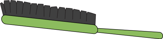 Green Hair Brush