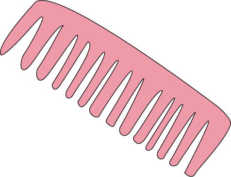 Pink Hair Comb