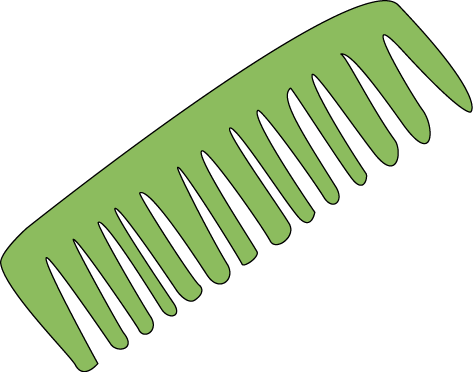 Hair Comb Clip Art Image - green plastic hair comb. This image is a ...